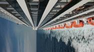 Ocean liferaft balconies vertical P HD 4468 Stock Footage