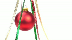 Christmas Ornament Ribbon Dance Stock Footage