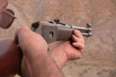 Man Shooting a Gun / Rifle / 308 Stock Footage