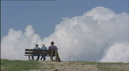 Stock Video Footage of dike_people_bench_cloud_502001 015951