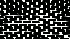 Brick Wall Collapsing - B&W Transition - stock footage