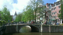 Amsterdam city view Stock Footage