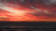 Sunset orange kite surf Stock Footage