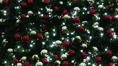 Baubles on a christmas tree 2 Stock Footage