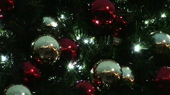Baubles on a christmas tree 3 Stock Footage