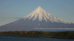 Kronotsky Volcano Stock Footage