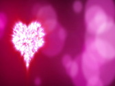 Rotating heart shape on blured background - Seamless loop  ntsc Stock Footage