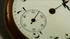 Macro ticking antique pocketwatch Stock Footage