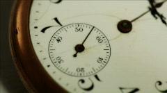macro ticking antique pocketwatch - stock footage