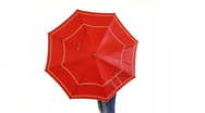 Stock Video Footage of Nice girl isolated with umbrella