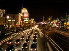 Las Vegas Strip - Night 400x300 Stock Footage