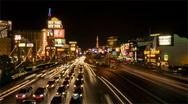 Las Vegas Strip - Night 480x270 Stock Footage