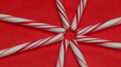 Candy cane design loop V6 - HD Stock Footage