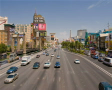 Las Vegas Strip - Day to Night PAL Stock Footage
