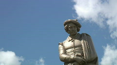 Sculpture of Rembrandt Stock Footage