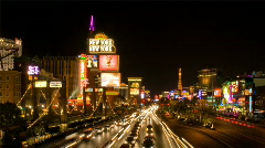 Las Vegas Strip - Night HD Stock Footage