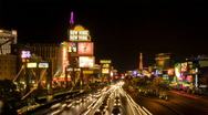 Stock Video Footage of Las Vegas Strip - Night HD