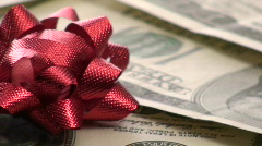 Cash with bow loop V6- HD Stock Footage