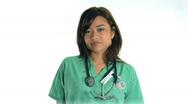 Nurse Smiling Stock Footage