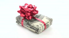 Cash wrapped gift loop V1 - HD Stock Footage