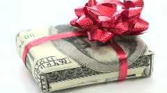 Cash wrapped gift loop V2 - HD Stock Footage