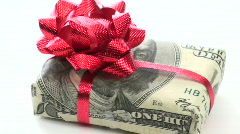Cash wrapped gift loop V3 - HD Stock Footage