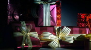 Gift bag and boxes 2 Stock Footage