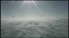 South Pole Blowing Snow Stock Footage