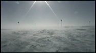 Stock Video Footage of South Pole Blowing Snow