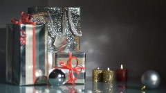 Gift bag and boxes 6 - stock footage