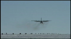 South Pole Plane Landing Stock Footage