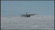Stock Video Footage of South Pole Plane Touchdown