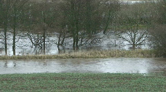 River tees bursts it's banks Stock Footage