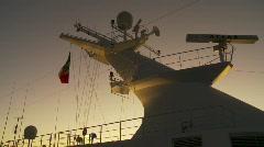 Ship mast evening, #1 Stock Footage