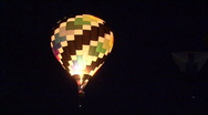 Stock Video Footage of Glowing Hot Air Balloons At Dawn