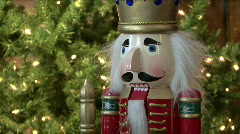 Christmas Nut Cracker Stock Footage
