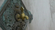 Historical drinking fountain from Ottoman Empire Stock Footage