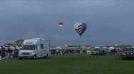Stock Video Footage of Hot Air Balloon & Crowd