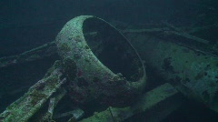 091125 SS Thistlegorm airplane cover  -74 Stock Footage