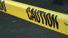 Caution Tape  - stock footage