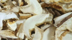Dried mushrooms Stock Footage