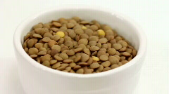 Lentils Stock Footage