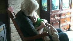 grandma , toddler - stock footage