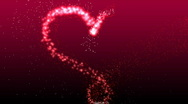 Stock Video Footage of Glowing Valentine's Heart - Heart 20 (HD)