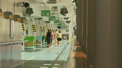 Sports and fitness, walking on promenade deck Stock Footage