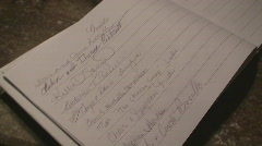 A Wedding Guest Book Stock Footage