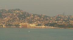 Acapulco skyline and beach, #3 pan - stock footage