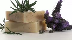 Organic herbal soap loop V2 - HD Stock Footage