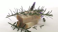Organic herbal soap loop V3 - HD Stock Footage