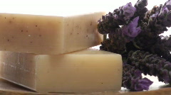 Organic herbal soap zoom V2 - HD Stock Footage